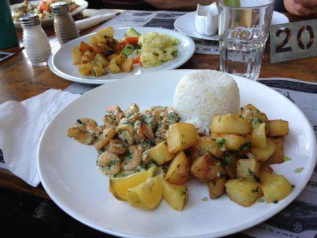 Café de la Gare Crevettes coco