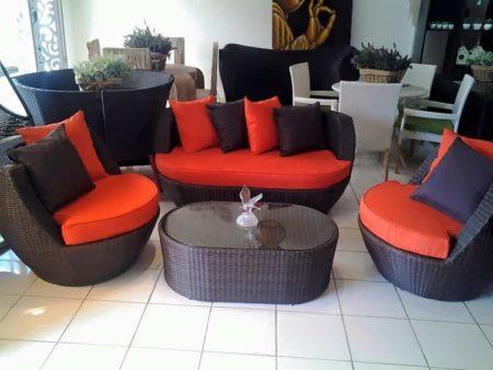 Ebene meubles, salon intérieur