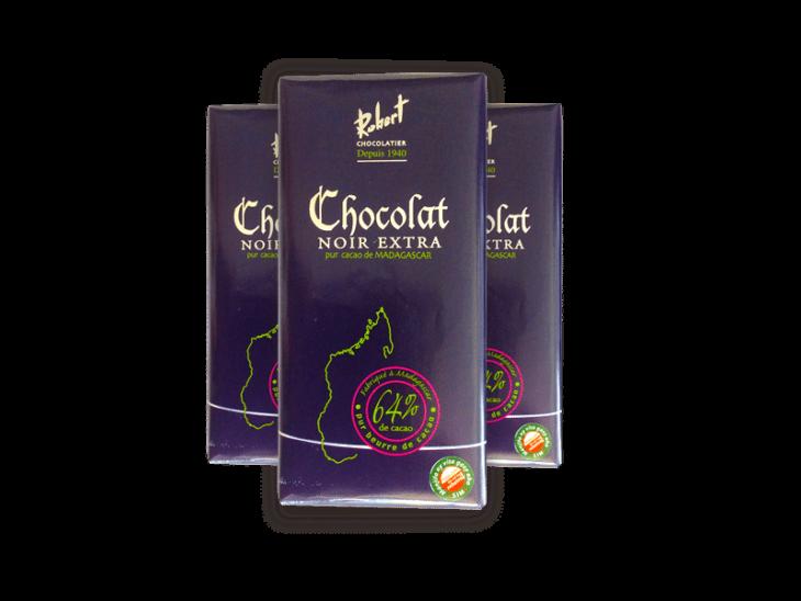 Tablette noir extra de la Chocolaterie Robert