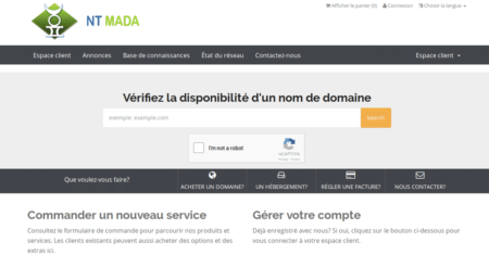 NT Mada, site