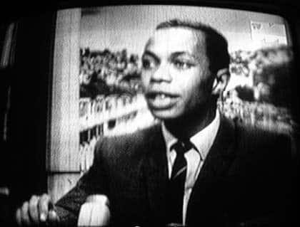 Le président Gabriel Ramanantsoa sur la TVM, en 1972