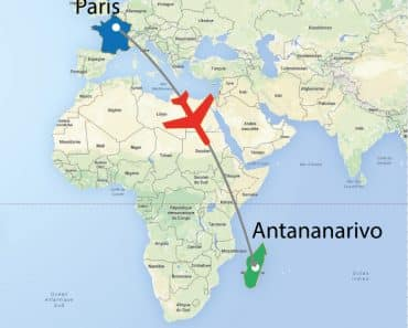 Vol Paris-Antananarivo