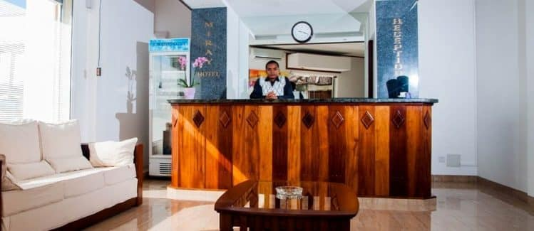 Bureau d'accueil du Miray Hôtel