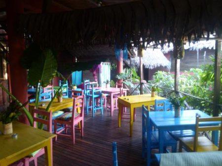 Ecolodge Ravoraha, Salle en terrasse