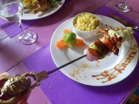 Ecolodge Ravoraha, Brochette de poisson