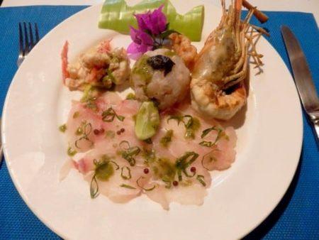 Ecolodge Ravoraha, carpaccio de poisson