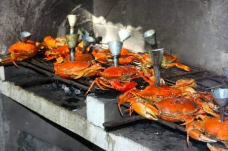 Hôtel Boraha Village, crabes