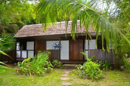 Hôtel Boraha Village, jardin