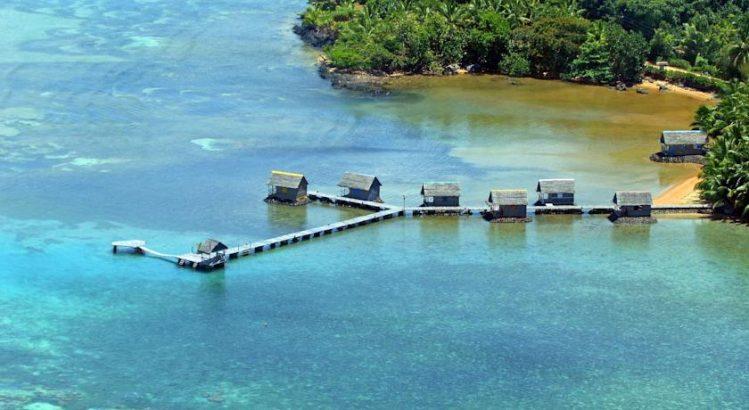 Bungalows de l'hôtel île Sainte Marie Lakana