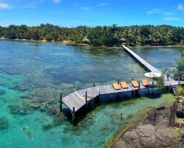 Le ponton de l'Hôtels île Sainte Marie Libertalia