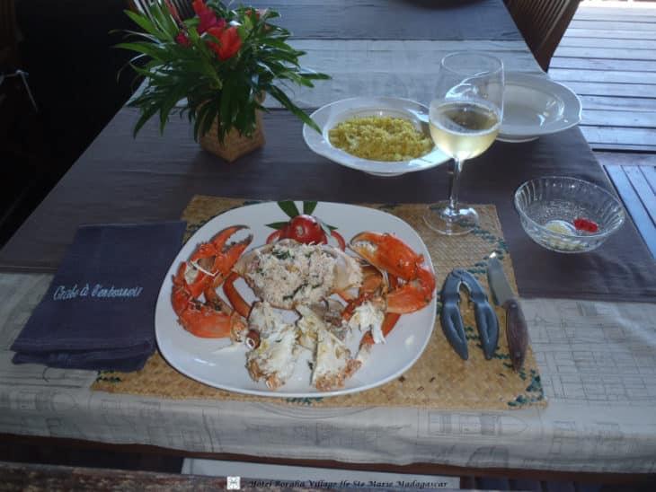 Le fameux crabe à l'entonnoir de Boraha Village