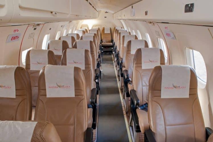 Cabine des avions Madagasikara Airways