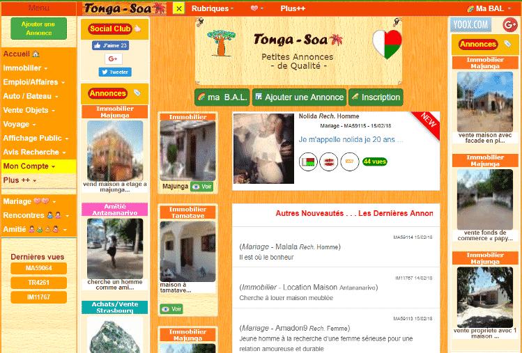 Site de rencontre tonga soa