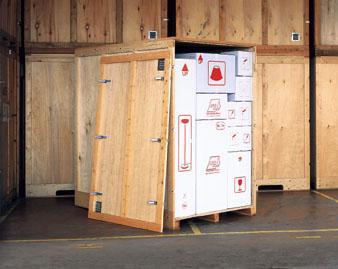 Caisses en bois confectionnées par AGS