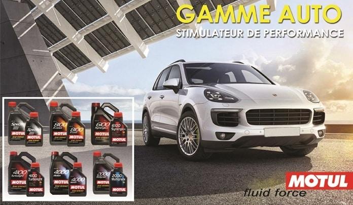 Design Auto Gamme Motul de liquides automobiles