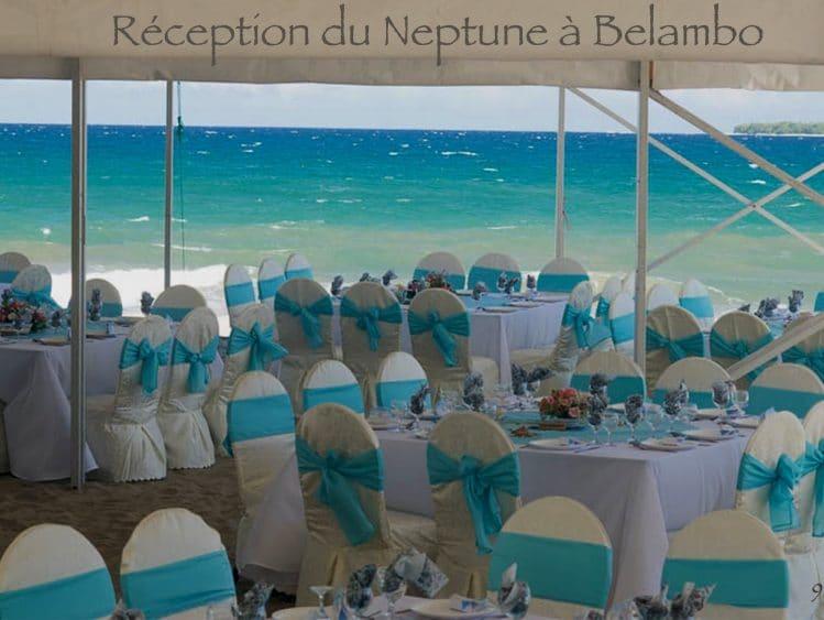 Réception sur la plage à l'Hôtel Neptune