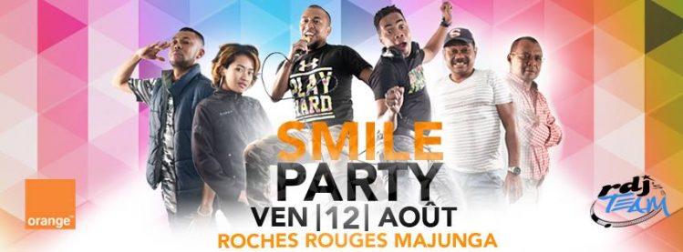 Affiche publicitaire pour la Smile Party, RDJ