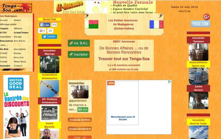 Tonga Soa, site de petites annonces Madagascar