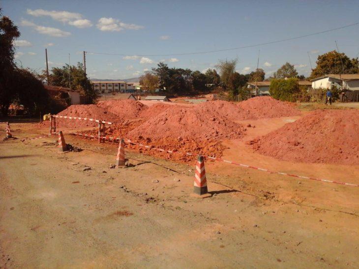 voie rapide Tsarasaotra Ivato chantier