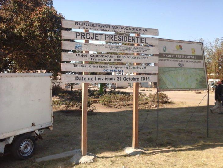 voie rapide Tsarasaotra Ivato projet présidentiel