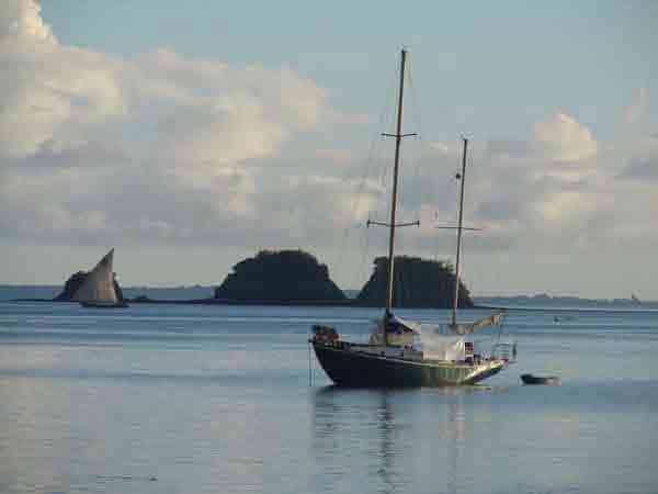Le voilier de Vingila, pour la plongée à Madagascar