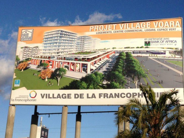 Projet de construction du village de la Francophonie 2016