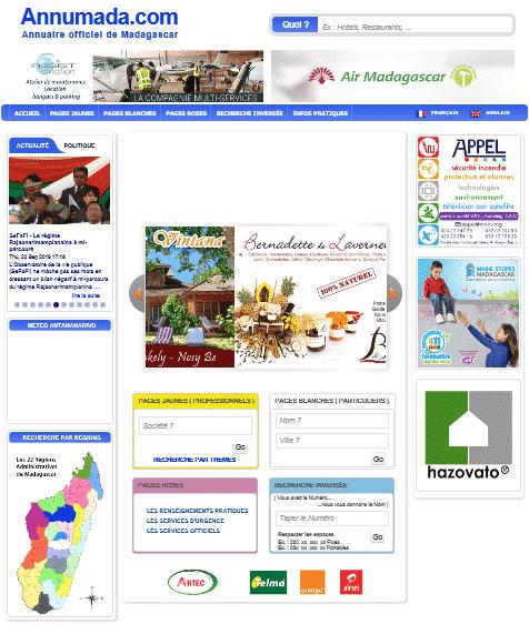 Page d'accueil d'Annumada