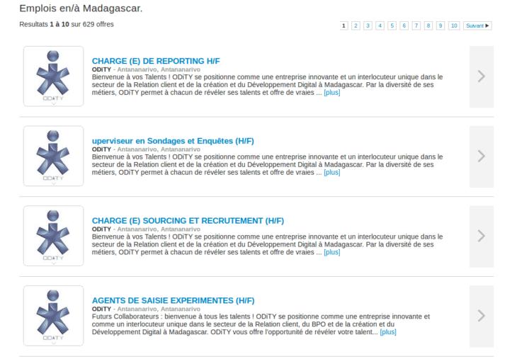 Offres d'emploi sur Giga Job