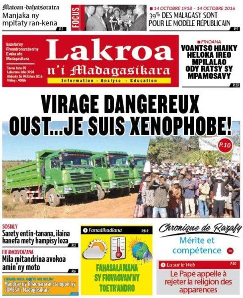Lakroan'i Madagasikara, presse catholique