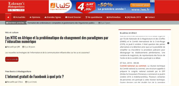 Tous les titres repris sur le site web de Lakroan'i Madagasikara