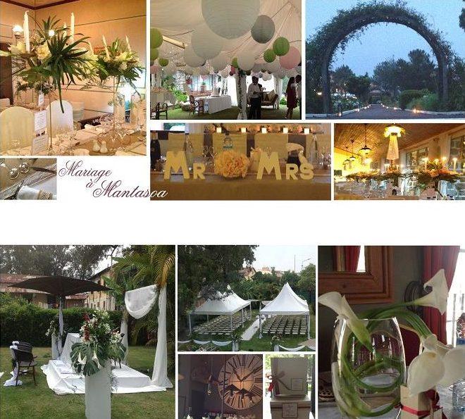 Décoration florale lors d'un mariage par les Noces de Maeva