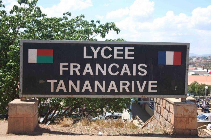 Plaque du Lycée Français Tananarive
