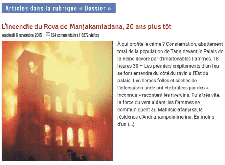 Madagascar Tribune Des dossiers pour revivre l'Histoire