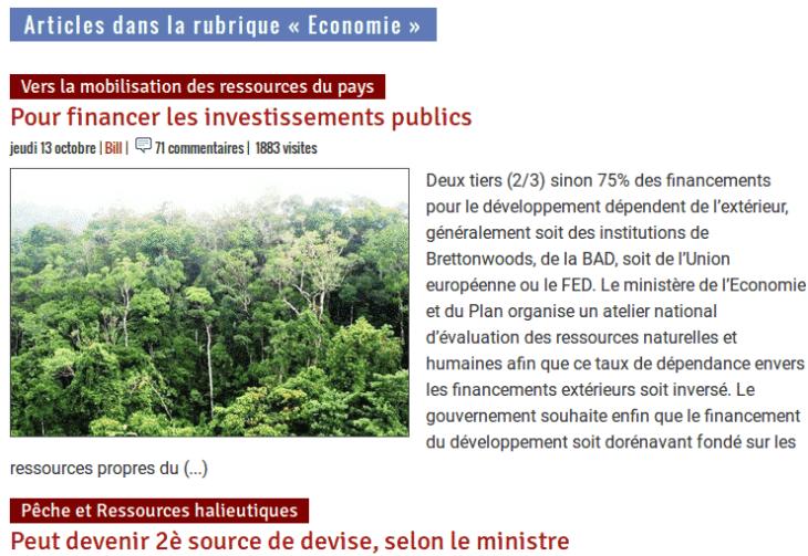 Madagascar Tribune Rubrique Économie en ligne