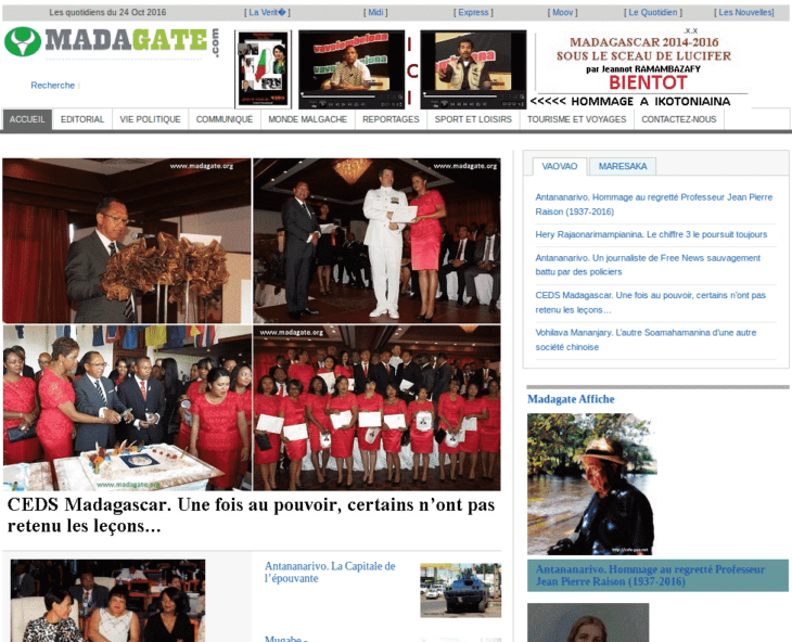 Madagate, media web à Madagascar