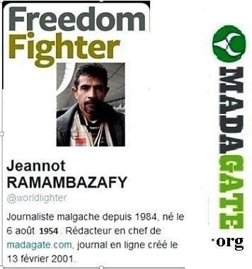 Le Directeur de publication et Rédacteur en chef de Madagate