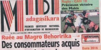 A la une de Midi Madagasikara