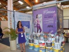Métisse, représentant de Mauvilac au Salon International de l'Habitat 2016