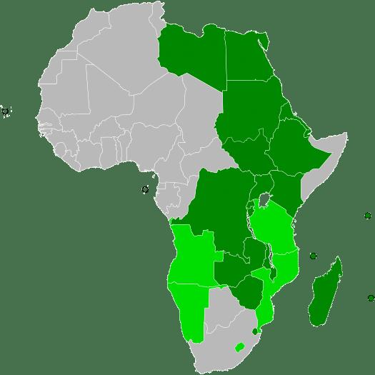 Sommet du Comesa 2016 pays membres