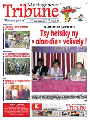 A la Une de la presse Tribune Madagascar