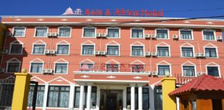 Façade Asia and Africa Hotel